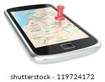 navigation via smart phone.... | Shutterstock . vector #119724172