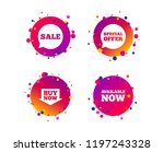 sale icons. special offer... | Shutterstock .eps vector #1197243328