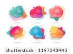 dynamic liquid shapes. set of... | Shutterstock .eps vector #1197243445