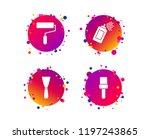 paint roller  brush icons....   Shutterstock .eps vector #1197243865
