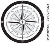 geographical compass directions ... | Shutterstock .eps vector #1197249325