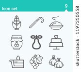 contains such icons as dumpling ... | Shutterstock .eps vector #1197250558