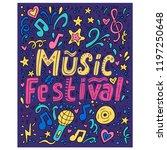 music festival    handdrawn... | Shutterstock .eps vector #1197250648