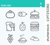 contains such icons as dumpling ... | Shutterstock .eps vector #1197252382