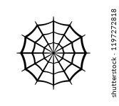 spider web icon. circle cobweb... | Shutterstock .eps vector #1197272818