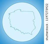 map of poland | Shutterstock .eps vector #1197273922