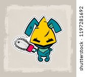 halloween stitch bunny  rabbit... | Shutterstock .eps vector #1197281692
