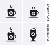 coffee cup icons  vector cafe... | Shutterstock .eps vector #1197282505