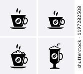 coffee cup icons  vector cafe... | Shutterstock .eps vector #1197282508