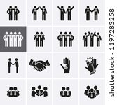 friendship and friend icon set. ... | Shutterstock .eps vector #1197283258
