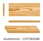 set of wood logs for forestry... | Shutterstock .eps vector #1197283288