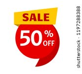 sale  price tag icon. 50  off.... | Shutterstock .eps vector #1197288388