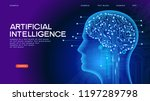 neural network. deep learning.... | Shutterstock .eps vector #1197289798