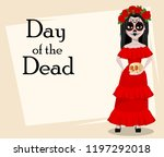 day of the dead traditional... | Shutterstock .eps vector #1197292018