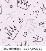 trendy seamless girl pattern... | Shutterstock .eps vector #1197292312