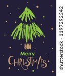 merry christmas template for... | Shutterstock .eps vector #1197292342
