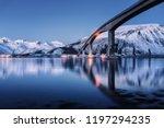 bridge with illumination  snow... | Shutterstock . vector #1197294235