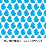 rain drops falling seamless... | Shutterstock .eps vector #1197299005