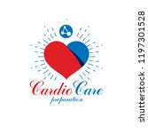 vector heart shape logo created ... | Shutterstock .eps vector #1197301528