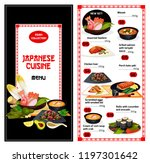 japanese cuisine food menu.... | Shutterstock .eps vector #1197301642
