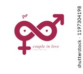 eternal couple conceptual logo  ... | Shutterstock .eps vector #1197304198