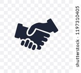 shake hands transparent icon.... | Shutterstock .eps vector #1197310405