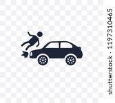 frontal crash transparent icon. ... | Shutterstock .eps vector #1197310465