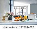 white electric bread toaster... | Shutterstock . vector #1197316822