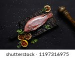 delicious fresh raw red seafood ... | Shutterstock . vector #1197316975