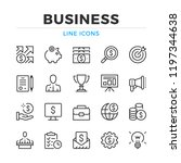 business line icons set. modern ... | Shutterstock .eps vector #1197344638