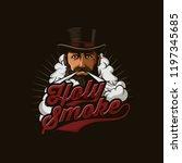 vapor mascot logo   Shutterstock .eps vector #1197345685