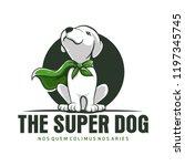 super dog animal mascot logo | Shutterstock .eps vector #1197345745