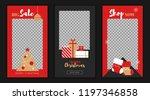 modern flat merry christmas new ... | Shutterstock .eps vector #1197346858