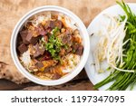 northern thai food  kanom jeen... | Shutterstock . vector #1197347095