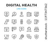 digital health line icons set.... | Shutterstock .eps vector #1197347362