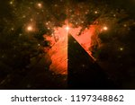 illuminati pyramid and the... | Shutterstock . vector #1197348862