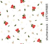 botanical seamless pattern with ... | Shutterstock .eps vector #1197349885