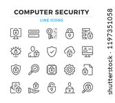 computer security line icons... | Shutterstock .eps vector #1197351058