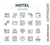 hotel line icons set. modern... | Shutterstock .eps vector #1197352255