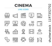 cinema line icons set. modern... | Shutterstock .eps vector #1197352702