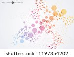 structure molecule and... | Shutterstock .eps vector #1197354202