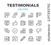 Stock vector testimonials line icons set modern outline elements graphic design concepts simple symbols 1197355702