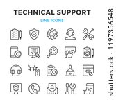 Technical Support Line Icons...