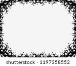 halloween frame october 31st.... | Shutterstock .eps vector #1197358552