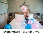 women's fashion balloon in the...   Shutterstock . vector #1197358792