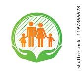 family care center logo design  ... | Shutterstock .eps vector #1197366628