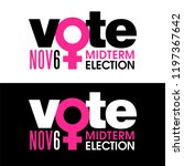 the word vote is combined with...   Shutterstock .eps vector #1197367642