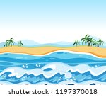 flat empty beach background... | Shutterstock .eps vector #1197370018