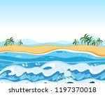 flat empty beach background... | Shutterstock .eps vector #1197370018