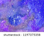 abstract watercolor background. ... | Shutterstock . vector #1197375358
